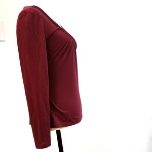 Charlotte Russe Tops - Charlotte Russe Burgundy Long Sleeves Small Top